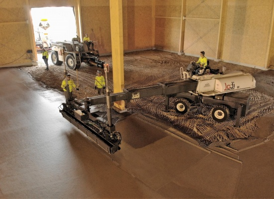 Duurzame betonvloer zonder cement